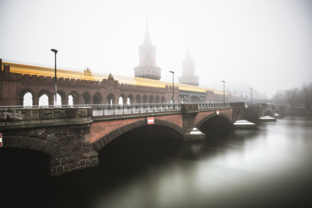 Berlin Oberbaumbrücke in the Mist - Fineart photography by Jean Claude Castor