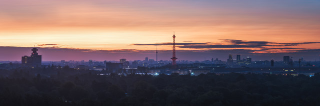 Berlin City West Panorama - Fineart photography by Jean Claude Castor