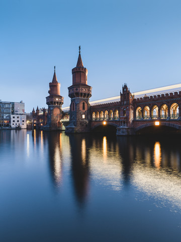 Berlin Oberbaumbridge in the evening - Fineart photography by Ronny Behnert