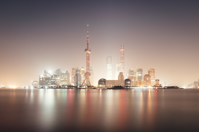 Pudong in light - Fineart photography by Roman Becker
