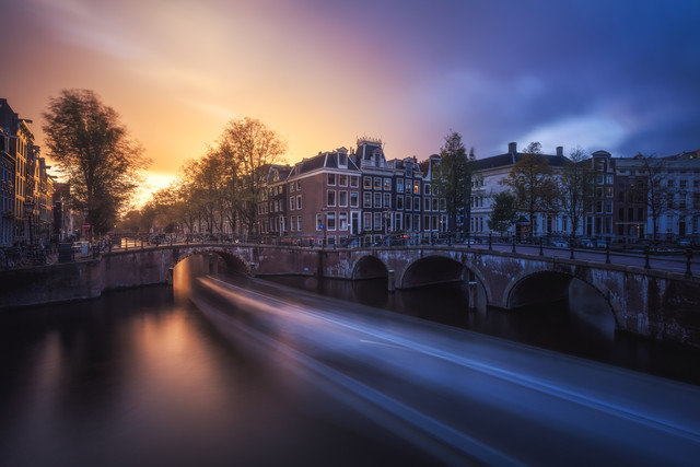 Sunset in Amsterdam - Fineart photography by Jean Claude Castor