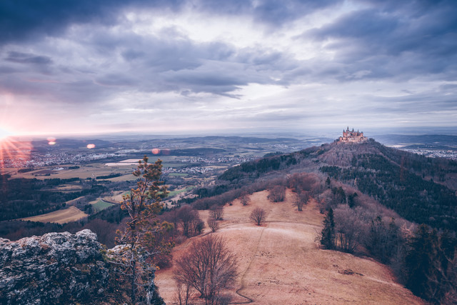 Hohenzollern Castle at sunset - Fineart photography by Eva Stadler