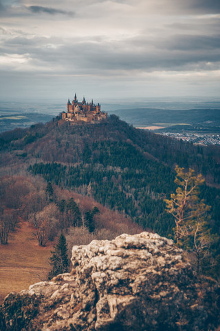 Hohenzollern castle from nearby hills - Fineart photography by Eva Stadler