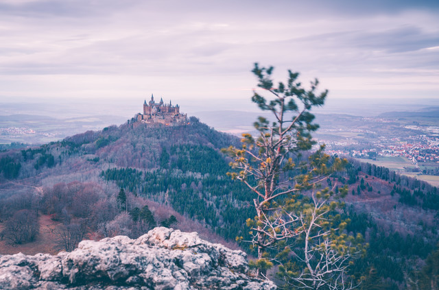 Hohenzollern castle from the Albtrauf - Fineart photography by Eva Stadler
