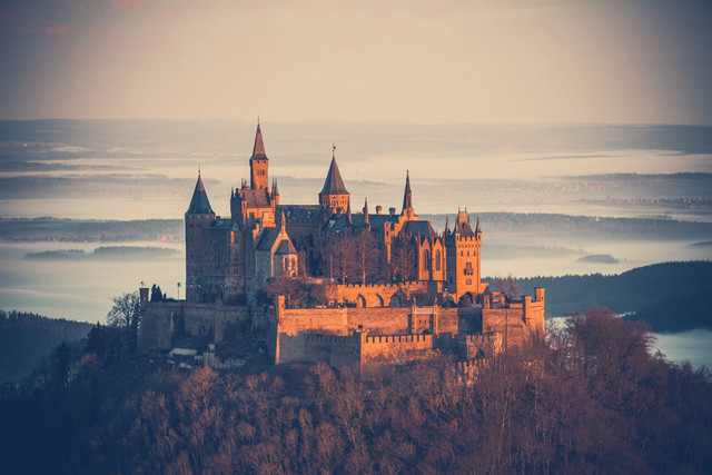Castle Hohenzollern in morning light - Fineart photography by Franz Sussbauer
