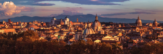 Rome Rooftop View - Fineart photography by Jean Claude Castor