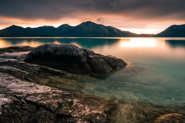 Summer Evening at lake Walchensee - Fineart photography by Martin Wasilewski
