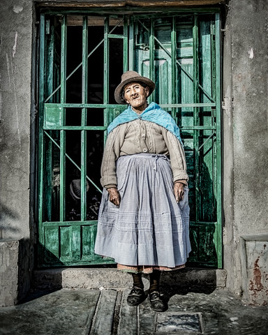 A beautiful old lady is a work of art - Fineart photography by Brian Decrop