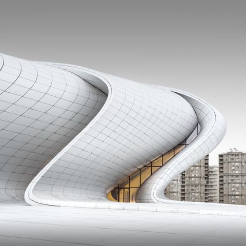 Heydar Aliyev Center Baku - Study 4 - Fineart photography by Ronny Behnert