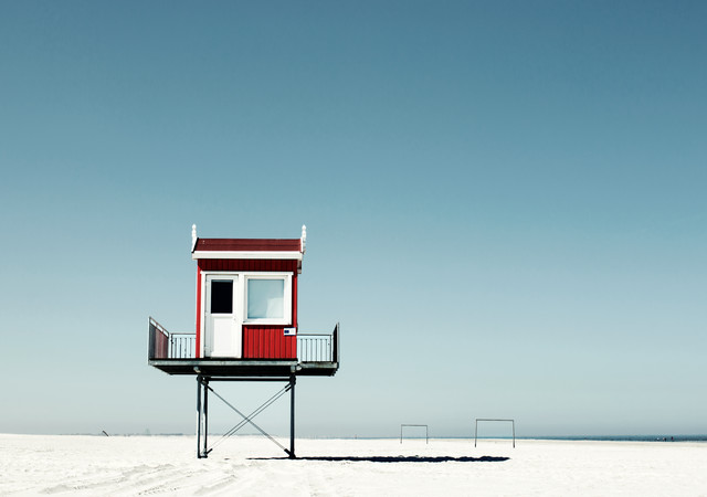 Beach tower - Fineart photography by Manuela Deigert