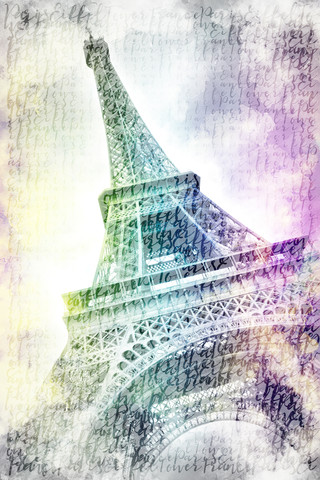 PARIS Watercolor Eiffel Tower - Fineart photography by Melanie Viola
