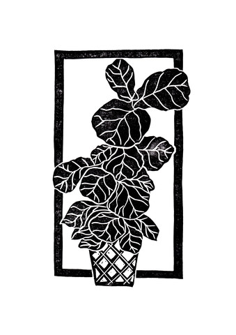 Fiddle Leaf Fig Block Print - Fineart photography by Bianca Green