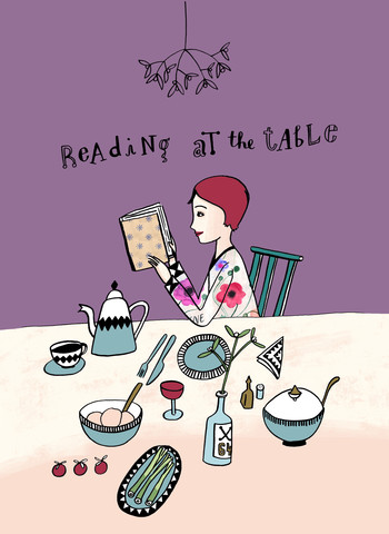 Reading! !: Reading at the table - Fineart photography by Constanze Guhr