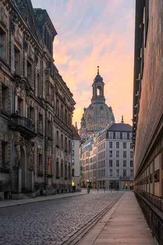 Frauenkirche Dresden at sunrise - Fineart photography by Robin Oelschlegel