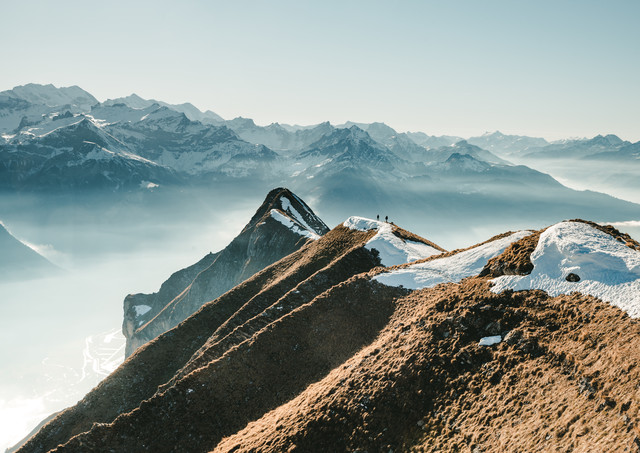 Hiking on the Ridge - Fineart photography by Niels Oberson