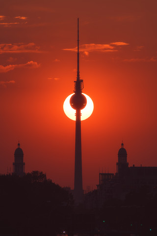 Berlin TV tower during Sunset - Fineart photography by Jean Claude Castor
