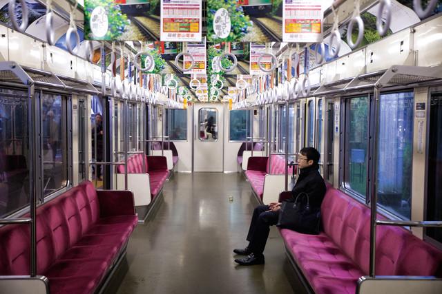 Train ride in Japan - Fineart photography by Oona Kallanmaa
