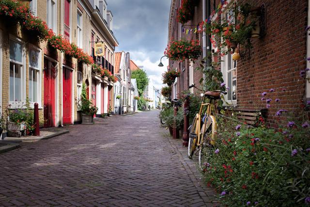 Idyllic Dutch street - Fineart photography by Oona Kallanmaa