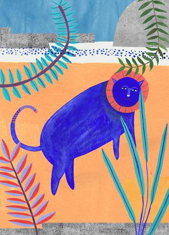 blue lion - Fineart photography by Anja Bartelt