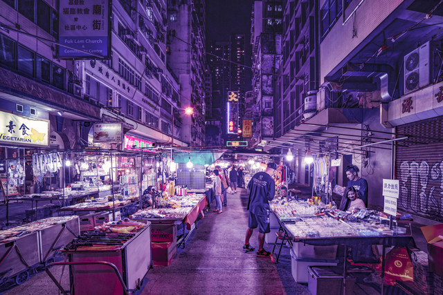 Nightmarket in Kowloon - Fineart photography by Pascal Deckarm