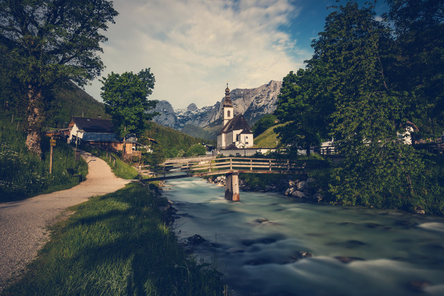 Painters view Ramsau - Fineart photography by Franz Sussbauer