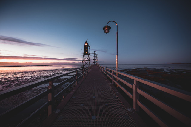north sea, runway, latern and lighthouse - Fineart photography by Franz Sussbauer