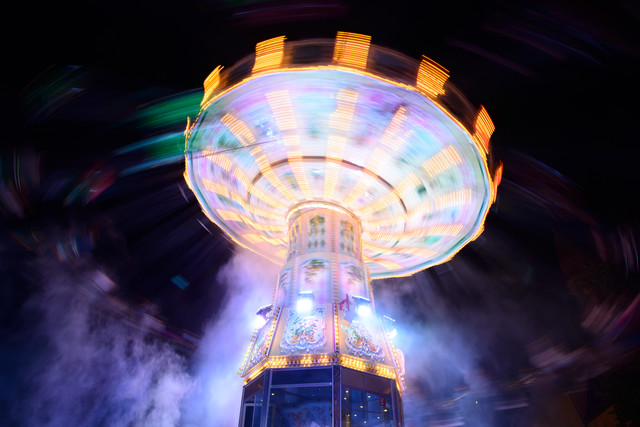 Carousel by night - Fineart photography by Peter Wey