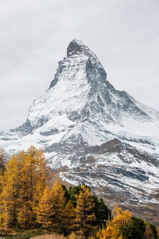 Matterhorn mountain peak in autumn - Fineart photography by Peter Wey