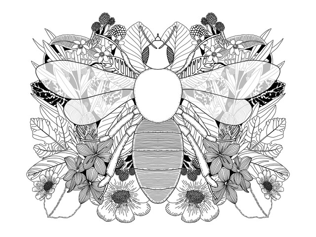 Botanical Bee - Fineart photography by Catalina Villegas