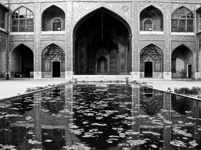 Shiraz Mosque Reflection - Fineart photography by Brett Elmer