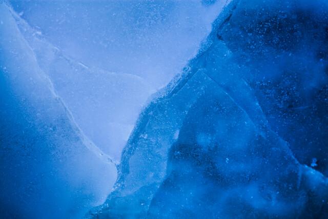 Blue ice cracks - Fineart photography by Sebastian Worm