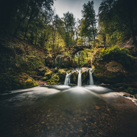 longexposure of Schiessentümpel cascades - Fineart photography by Franz Sussbauer