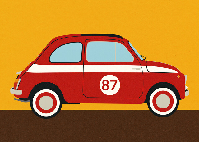 Fiat 500 Nuova Abarth - Fineart photography by Rosi Feist