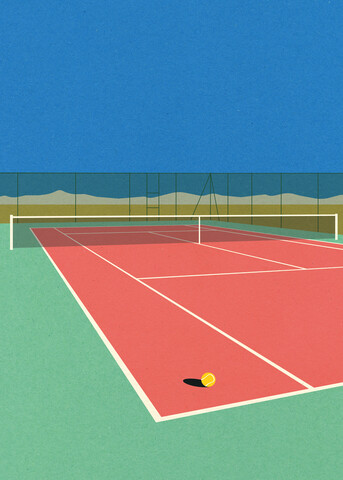 Tennis Court In The Desert - Fineart photography by Rosi Feist