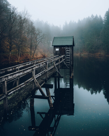 Boathouse in Clausthal-Zellerfeld - Fineart photography by Daniel Schumacher