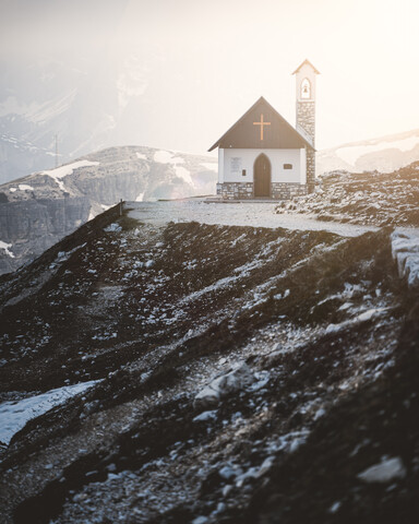 Lonely church for a lonely person. - Fineart photography by Christian Becker