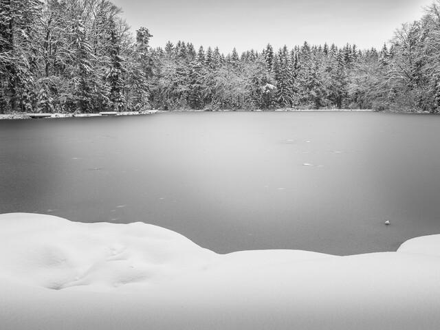 frozen lake - Fineart photography by Bernd Grosseck