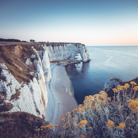 Summer evening at the white cliffs of Etretat - Fineart photography by Franz Sussbauer
