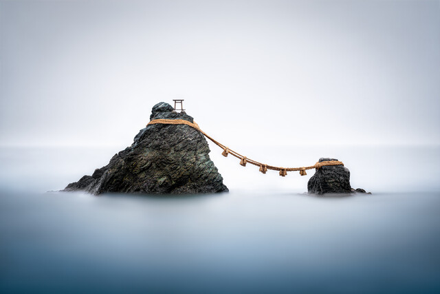 Meoto Iwa rocks in Japan - Fineart photography by Jan Becke
