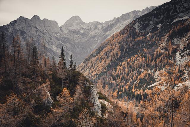 Let's away ... Autumn at the Vršič pass in Slovenia - Fineart photography by Eva Stadler