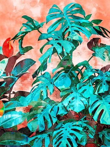 Monstera in My Backyard - Fineart photography by Uma Gokhale