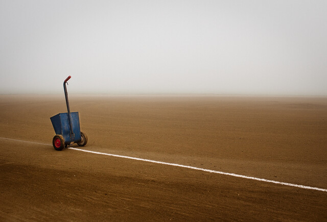 Infield in Fog - Fineart photography by Jeff Seltzer
