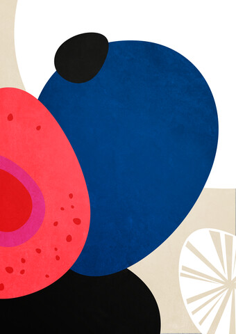 Pebbles - abstract illustration - Fineart photography by Pia Kolle