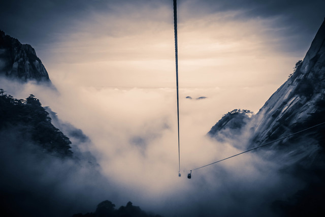 Cable in the Cloud - Fineart photography by Rob Smith