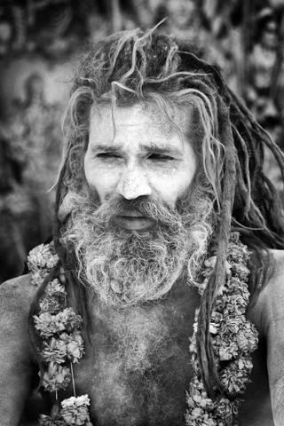 Die traditionelle naga sadhu bei kumbh mela allahabad indien - Fineart photography by Jagdev Singh