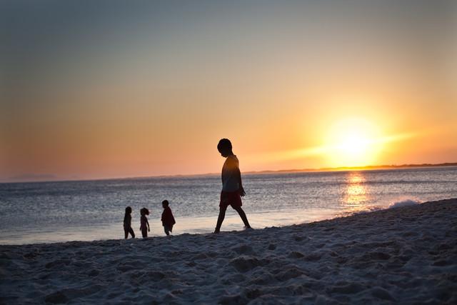 Children in Rio de Janeiro Beach - Fineart photography by Davi Boarato