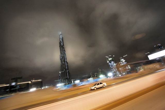 Burj at night - Fineart photography by Florian Büttner