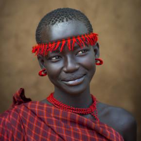 Eric Lafforgue, Miss Domoget, Bodi Tribe Woman With Headband, Hana Mursi, Omo Va (Ethiopia, Africa)