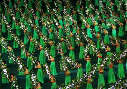Eric Lafforgue, Arirang mass games in Pyongyang, North Korea (Korea, North, Asia)