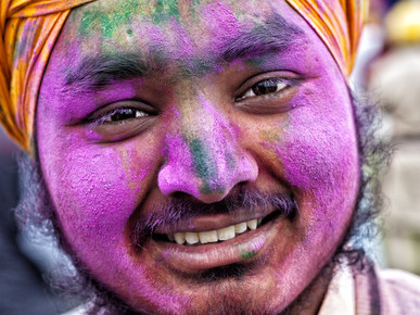 Jagdev Singh, colors of happiness (India, Asia)